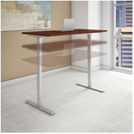 "BBF Bush Series C 400 Height Adjustable Table Desk 72"" x 24"" Hansen Cherry - HAT7224HCK"