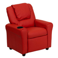Flash Furniture Kid's Recliner with Cup Holder Red Vinyl - DG-ULT-KID-RED-GG