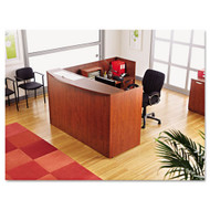 Alera Valencia Series L-Shaped Reception Desk w/ Pedestal Files - VAL2