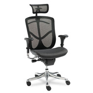 Alera EQ Series Ergonomic Multifunction High-Back Mesh Chair Aluminum Base - EQA41ME