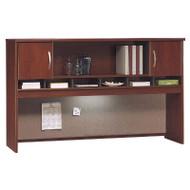 """BBF Bush Series C Desk Hutch 2-Door 72"""" Hansen Cherry - WC24466K"""