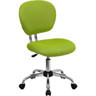 Flash Furniture Mid-Back Apple Green Mesh Task Chair with Chrome Base - H-2376-F-GN-GG
