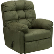 Flash Furniture Contemporary Padded Sage Microfiber Rocker Recliner - HM-400-PADDED-SAGE-GG