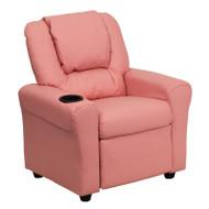 Flash Furniture Kid's Recliner with Cup Holder Pink Vinyl - DG-ULT-KID-PINK-GG