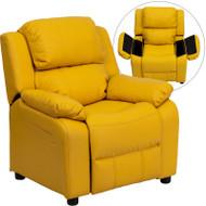 Flash Furniture Kid's Recliner with Storage Yellow Vinyl - BT-7985-KID-YEL-GG