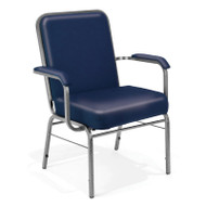 OFM Big and Tall Anti-bacterial Vinyl Arm Stacking Chair 500 lbs. Capacity - 300-XL-VAM