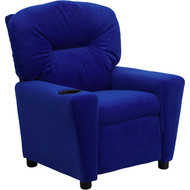 Flash Furniture Contemporary Kid's Recliner with Cup Holder Blue Microfiber - BT-7950-KID-MIC-BLUE-GG