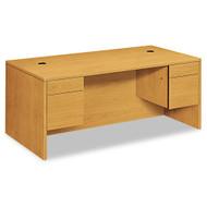 """HON 10500 Series Double 3/4 Pedestal Desk 72"""", Assembled - 10593CC"""