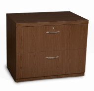 "Mayline Aberdeen Lateral File Cabinet 30"" Free Standing Mocha - AFLF30"