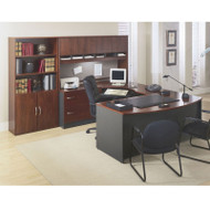 BBF Bush Series C Package Executive U-Shaped Bowfront Desk Hansen Cherry - HCPackageF
