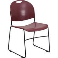Flash Furniture HERCULES Series High Density Ultra Compact Stack Chair Burgundy - RUT-188-BY-GG