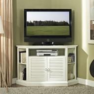 """Walker Edison Classic 52"""" TV Corner Console, White - W52CCRWH"""