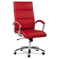 Alera Neratoli High-Back Soft-Touch Leather Chair Red- NR4139
