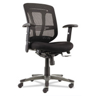Alera Eon Series Multifunction Mid-Back Mesh Chair with Cushion Mesh Seat Black - EN4217