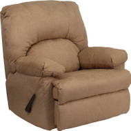 Flash Furniture Contemporary Montana Latte  Microfiber Suede Rocker Recliner - WM-8500-264-GG
