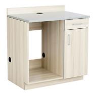 Safco Hospitality Appliance Base Cabinet , Vanilla Stix/Gray - 1705VS