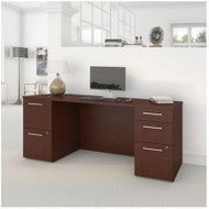 "BBF Bush 300 Series Double Pedestal Desk 72"" Harvest Cherry - 300S033CS"