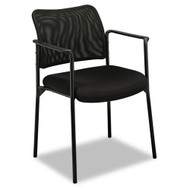 Basyx Black Mesh Stacking Guest Chair with Arms - VL516MM10