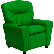 Flash Furniture Contemporary Kid's Recliner with Cup Holder Green Vinyl - BT-7950-KID-GRN-GG