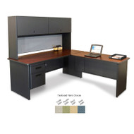 Marvel L-Shaped Steel Credenza & Hutch - PRNT4