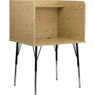 Flash Furniture Starter Study Carrel in Oak Finish - MT-M6221-OAK-GG
