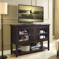 "Walker Edison Buffet 52"" Console Table, Espresso - W52C4CTES"