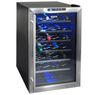 NewAir 28 Bottle Thermoelectric Wine Cooler Stainless Steel & Black - AW-281E