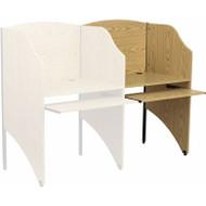 Flash Furniture Add-On Study Carrel in Oak Finish - MT-M6202-OAK-ADD-GG