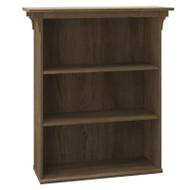 Bush Mission Creek Collection 3-Shelf Bookcase Rustic Brown - MCB136RB-03