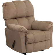 Flash Furniture Contemporary Top Hat Coffee Microfiber Rocker Recliner - AM-9320-4172-GG