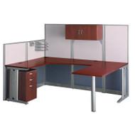 Bush Office-in-an-Hour U-Shaped Desk Workstation Package - WC36496-03STGK