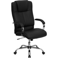 Flash Furniture High Back Black Leather Executive Office Chair - BT-9080-BK-GG
