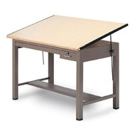 Mayline Ranger Steel Four-Post Drafting Table with Tool and Shallow Drawers 48 - 7734B