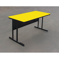 Correll High-Pressure Top Computer Desk or Training Table Keyboard Height  30 x 48 - CS3048