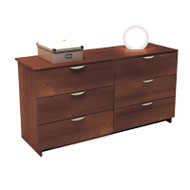 Nexera Nocce 6 Drawer Double Dresser Truffle Finish 401206