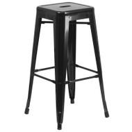 "Flash Furniture Black Metal Indoor-Outdoor Barstool 30""H - CH-31320-30-BK-GG"