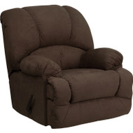 Flash Furniture Contemporary Glacier Brown Microfiber Chaise Rocker Recliner - AM-9700-7901-GG