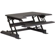 "Flash Furniture HERCULES Sit to Stand Desktop Riser 28.25""W Black - JE-JN-LD02-S-B-GG"