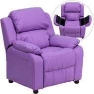 Flash Furniture Kid's Recliner with Storage Lavender Vinyl - BT-7985-KID-LAV-GG