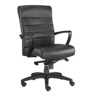 Eurotech by Raynor Manchester Mid-Back Black Leather Chair - LE255-BLK