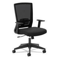 Basyx by HON Mesh High-Back Chair, Black Fabric - VL541LH10