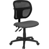 Flash Furniture Mid Back Mesh Task Chair with Gray Fabric Seat - WL-A7671SYG-GY-GG