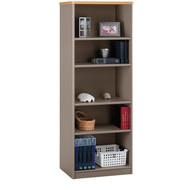 "BBF Bush Series A Bookcase 5-Shelf 66"" Light Oak & Sage - WC64365"