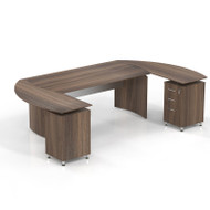 """* MONTHLY SPECIAL! Mayline Medina Laminate Executive 63"""" U-Shaped Desk with 2  Returns and Center Drawer Textured Brown Sugar - MNT3TBS"""