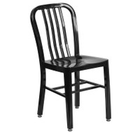 Flash Furniture Black Metal Indoor-Outdoor Chair (2-Pack) - CH-61200-18-BK-GG