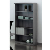 Mayline Medina Laminate Bookcase 5-Shelf Gray Steel - MVB5-LGS