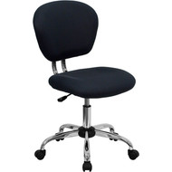 Flash Furniture Mid-Back Gray Mesh Task Chair with Chrome Base - H-2376-F-GY-GG