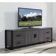 "Walker Edison Urban Blend 70"" TV Stand Charcoal/Black - W70UBC22CL"
