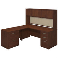 BBF Bush Series C Elite Desk with Hutch L-Shaped Hansen Cherry - SRE130HCSU