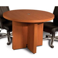 "* MONTHLY SPECIAL! Mayline Aberdeen Conference Table Round 42"" Cherry Finish - ACTR42-LCR"